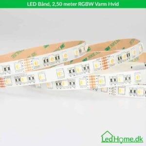 LED Bånd - 2,50 meter - RGBW Varm Hvid - LB-RGBWW27-IP20