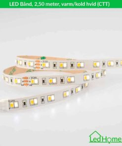 LED Bånd 2,50 meter varm-kold hvid (CTT) - LB-WW24W60-IP20-1 | LEDHome.dk