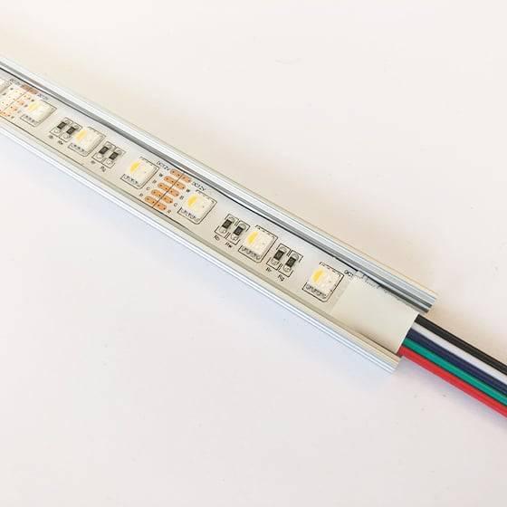 Alu Profil, 1 meter, 7x17mm med LEDbånd monteret |LEDhome.dk