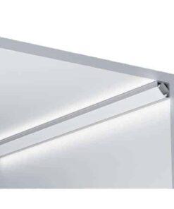 Alu Profil, 45°, 1 meter, 19x19mm med cover og tilbehør | LEDhome.dk