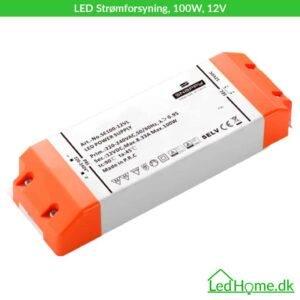 LED Strømforsyning, 100W, 12V   LEDHome.dk