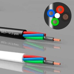 3 +1 LED kabel til RGB LEDbånd, pr. meter