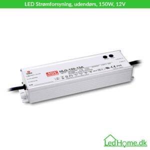 Udendørs LED Strømforsyning, 150W, 12V   LEDHome.dk