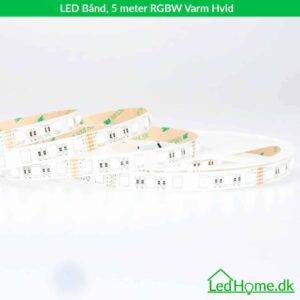 LED Bånd 5 meter RGBW Varm Hvid - LB-RGBWW27-IP20-1 2 | LEDHome.dk