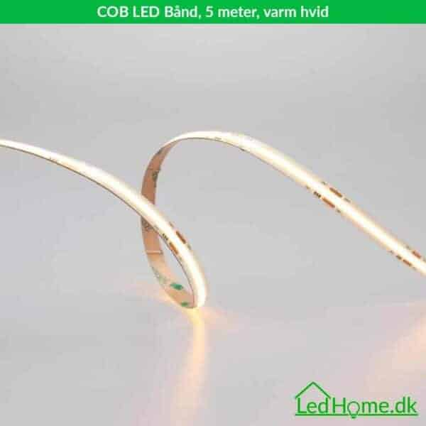 COB LED Baand - 5 meter - varm hvid - LB-WW24CW60-2-1