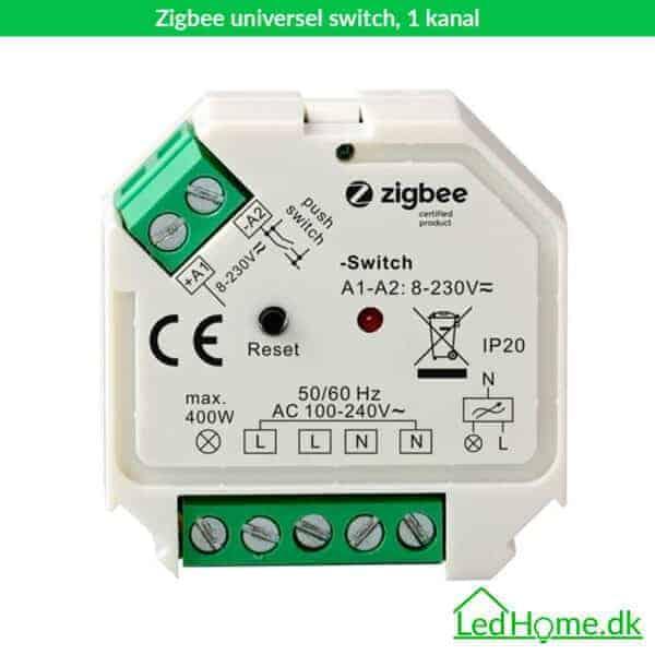 Zigbee universel switch, 1 kanal - LD-1-SWI-1 | LEDHome.dk